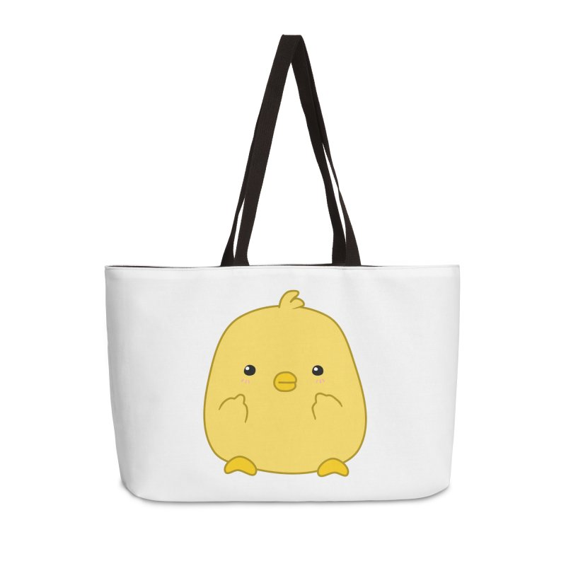 Cute Chick Has Had Enough Accessories Weekender Bag Bag by oneweirddude's Artist Shop