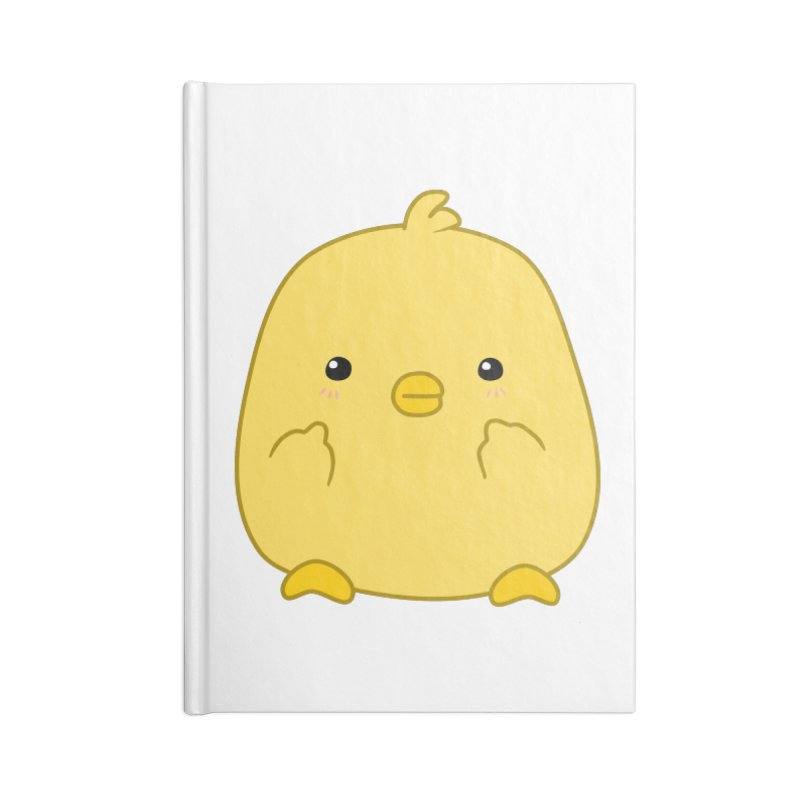 Cute Chick Has Had Enough Accessories Notebook by oneweirddude's Artist Shop