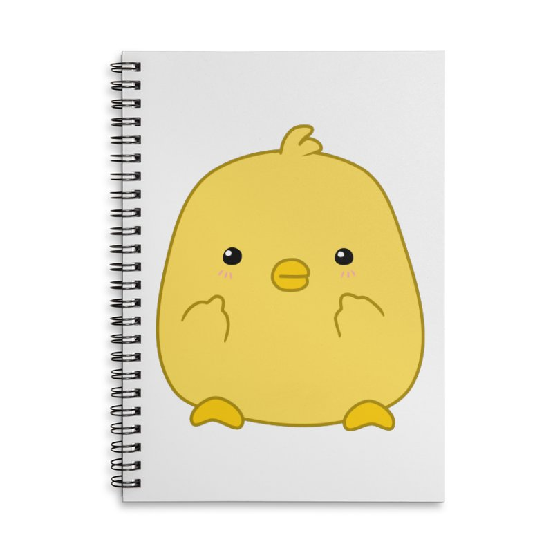 Cute Chick Has Had Enough Accessories Lined Spiral Notebook by oneweirddude's Artist Shop