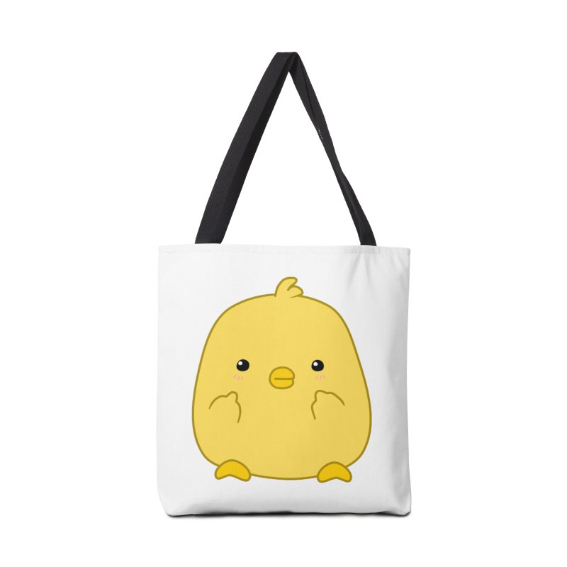 Cute Chick Has Had Enough Accessories Bag by oneweirddude's Artist Shop