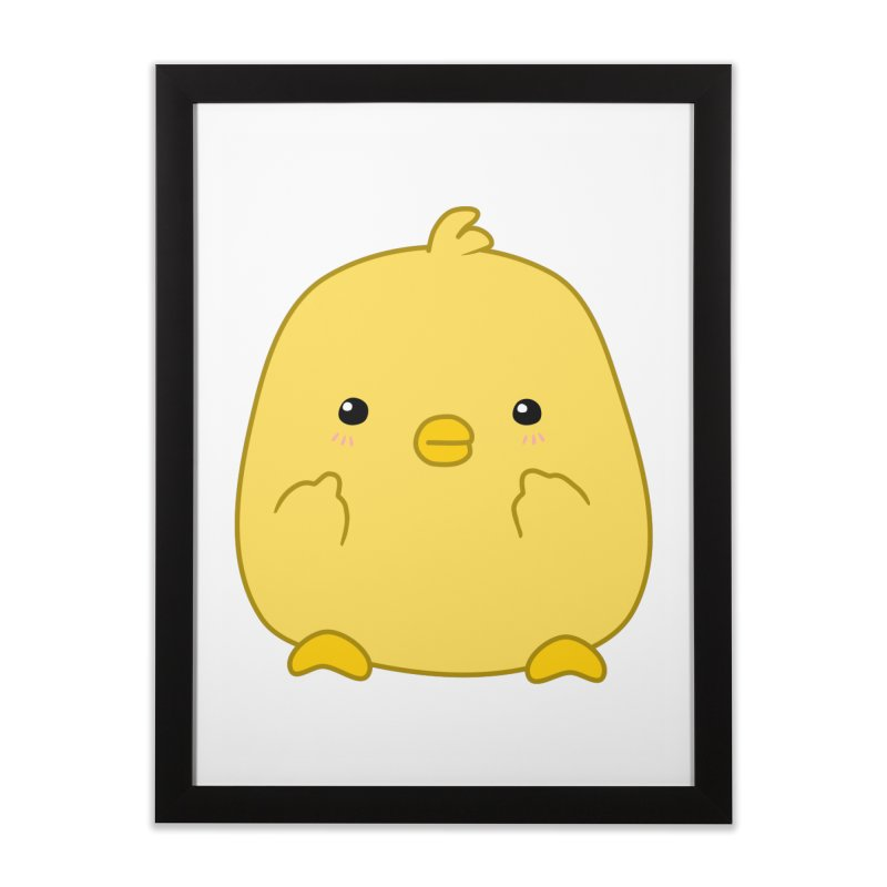 Cute Chick Has Had Enough Home Framed Fine Art Print by oneweirddude's Artist Shop