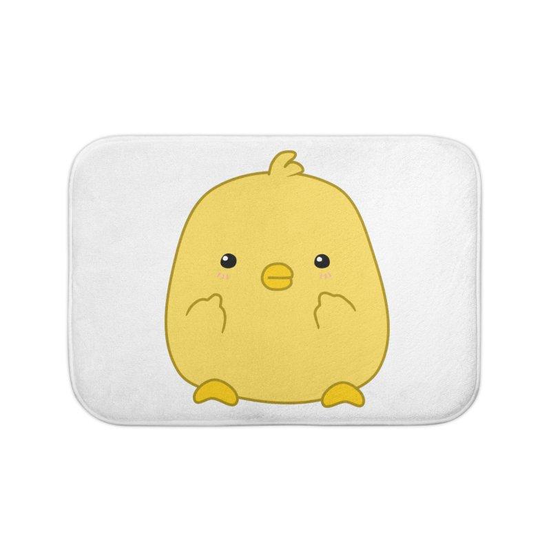 Cute Chick Has Had Enough Home Bath Mat by oneweirddude's Artist Shop