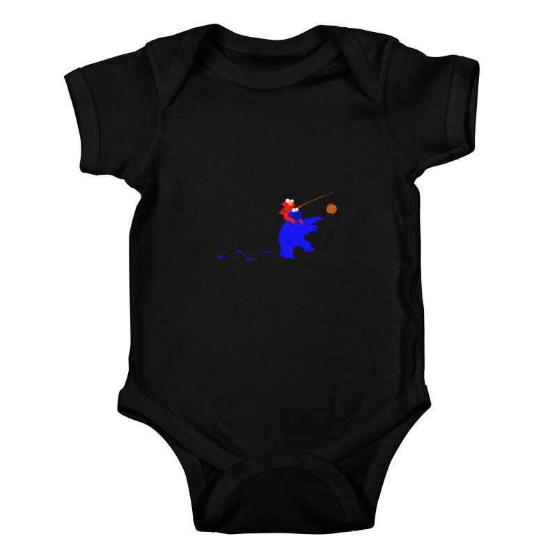 Cookie Monster Zombie v2 Kids Baby Bodysuit by oneweirddude's Artist Shop