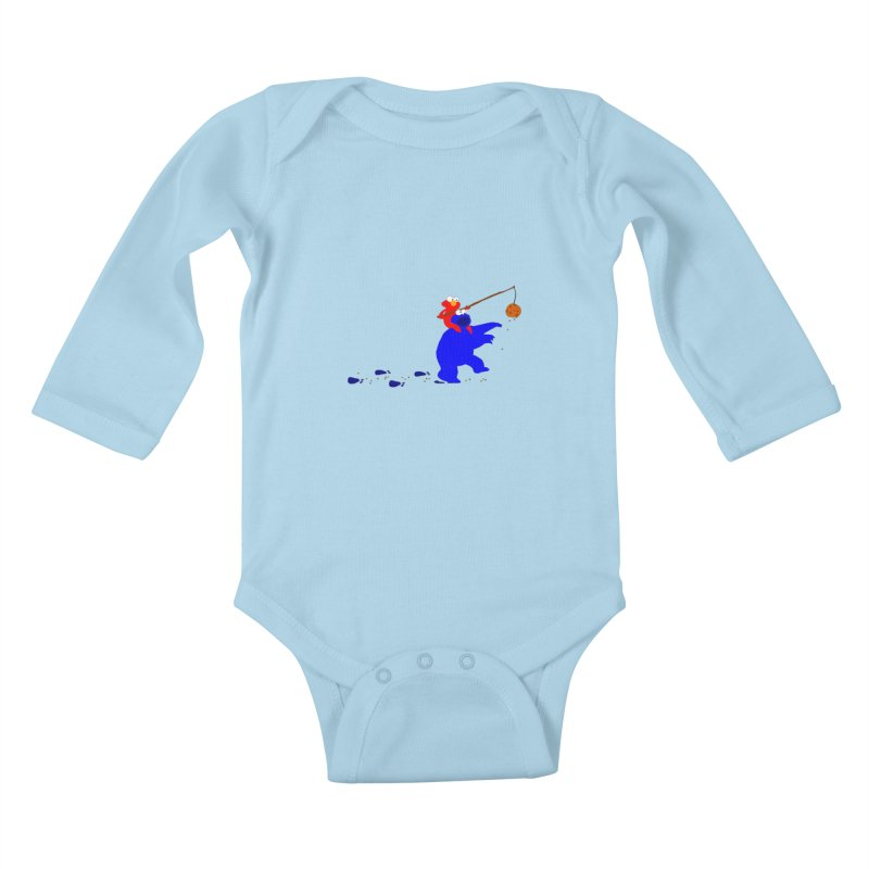 Cookie Monster Zombie v2 Kids Baby Longsleeve Bodysuit by oneweirddude's Artist Shop