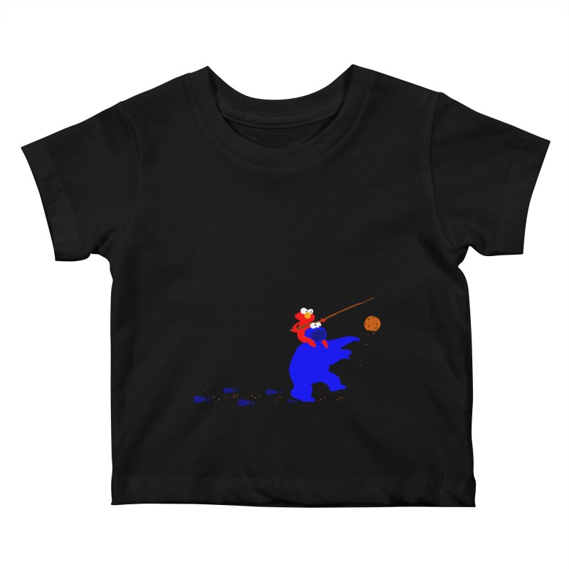 Cookie Monster Zombie v2 Kids Baby T-Shirt by oneweirddude's Artist Shop