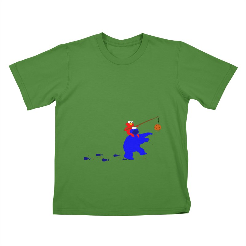 Cookie Monster Zombie v2 Kids T-shirt by oneweirddude's Artist Shop