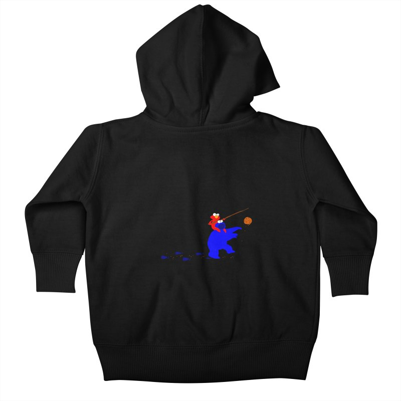 Cookie Monster Zombie v2 Kids Baby Zip-Up Hoody by oneweirddude's Artist Shop