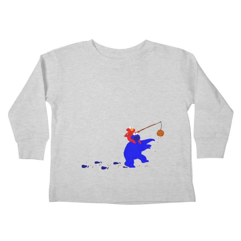 Cookie Monster Zombie v2 Kids Toddler Longsleeve T-Shirt by oneweirddude's Artist Shop