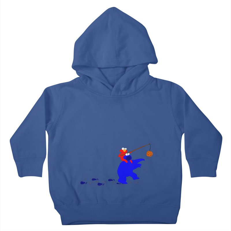 Cookie Monster Zombie v2 Kids Toddler Pullover Hoody by oneweirddude's Artist Shop