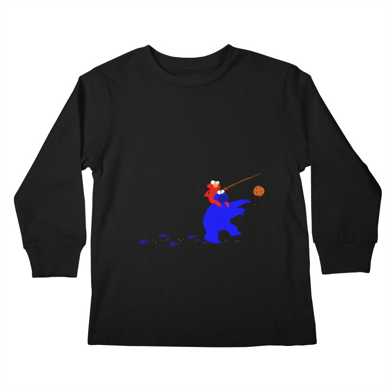 Cookie Monster Zombie v2 Kids Longsleeve T-Shirt by oneweirddude's Artist Shop