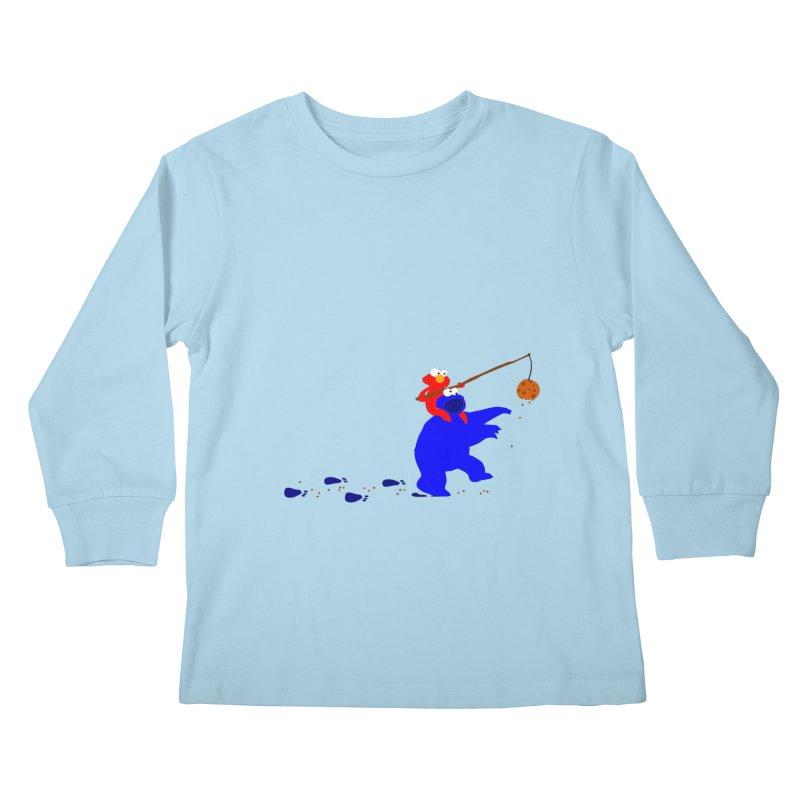 Cookie Monster Zombie v2 Kids Longsleeve T-Shirt by oneweirddude's Artist Shop