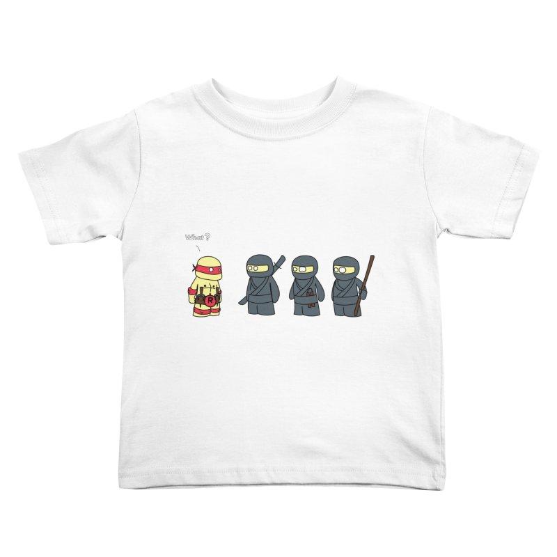 Not Proper Ninja Attire Kids Toddler T-Shirt by oneweirddude's Artist Shop