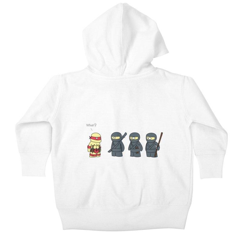Not Proper Ninja Attire Kids Baby Zip-Up Hoody by oneweirddude's Artist Shop