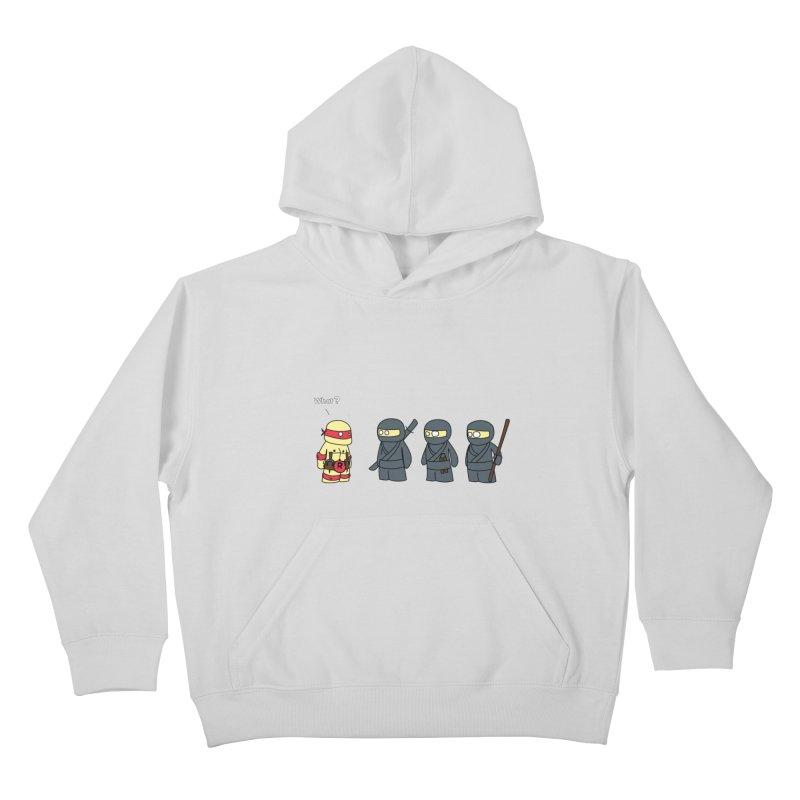 Not Proper Ninja Attire Kids Pullover Hoody by oneweirddude's Artist Shop