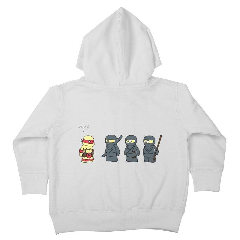 Not Proper Ninja Attire Kids Toddler Zip-Up Hoody by oneweirddude's Artist Shop