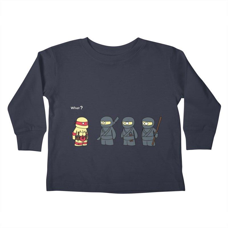 Not Proper Ninja Attire Kids Toddler Longsleeve T-Shirt by oneweirddude's Artist Shop