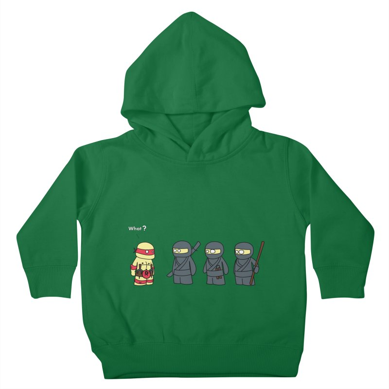 Not Proper Ninja Attire Kids Toddler Pullover Hoody by oneweirddude's Artist Shop