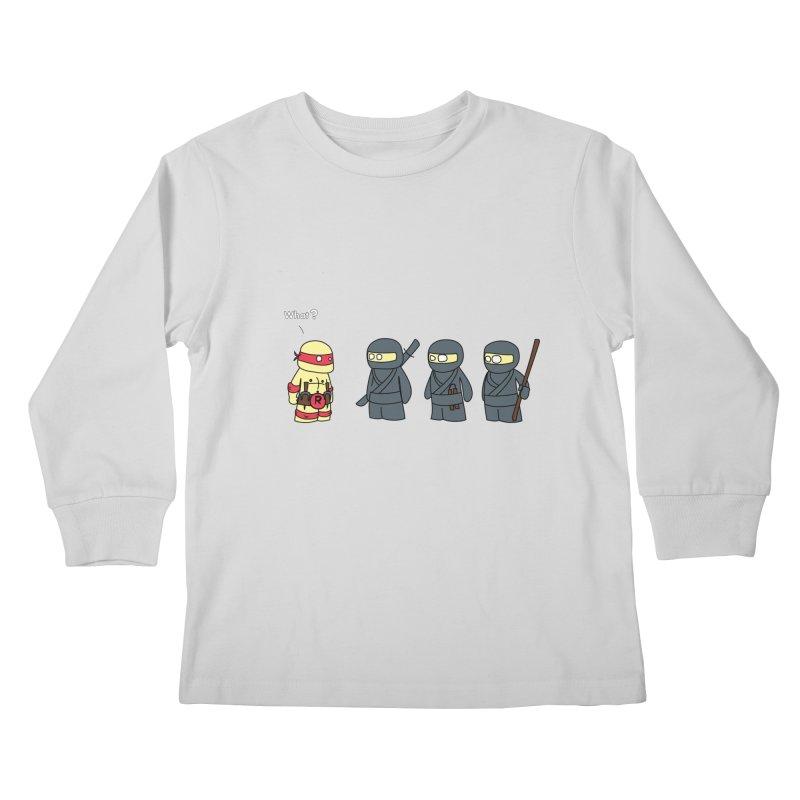 Not Proper Ninja Attire Kids Longsleeve T-Shirt by oneweirddude's Artist Shop
