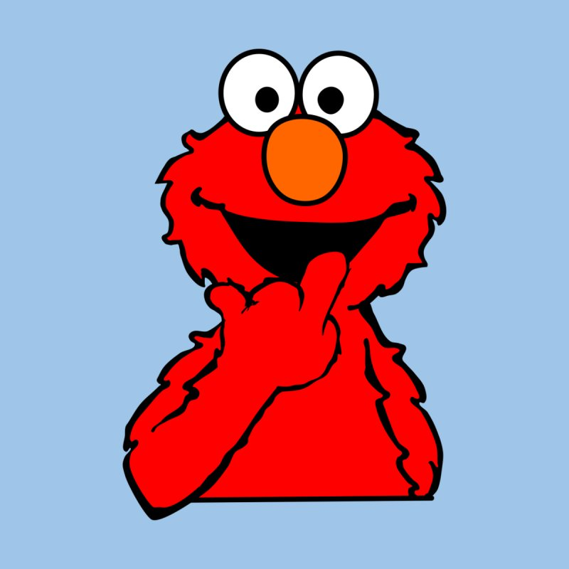 Elmo Says Hi   by oneweirddude's Artist Shop