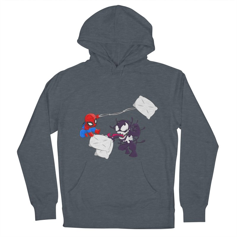 Spiderman and Venom have a Pillow Fight Women's Pullover Hoody by oneweirddude's Artist Shop