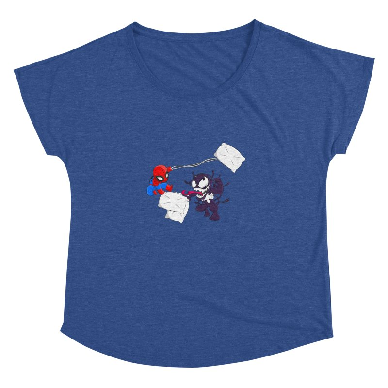 Spiderman and Venom have a Pillow Fight Women's Dolman by oneweirddude's Artist Shop
