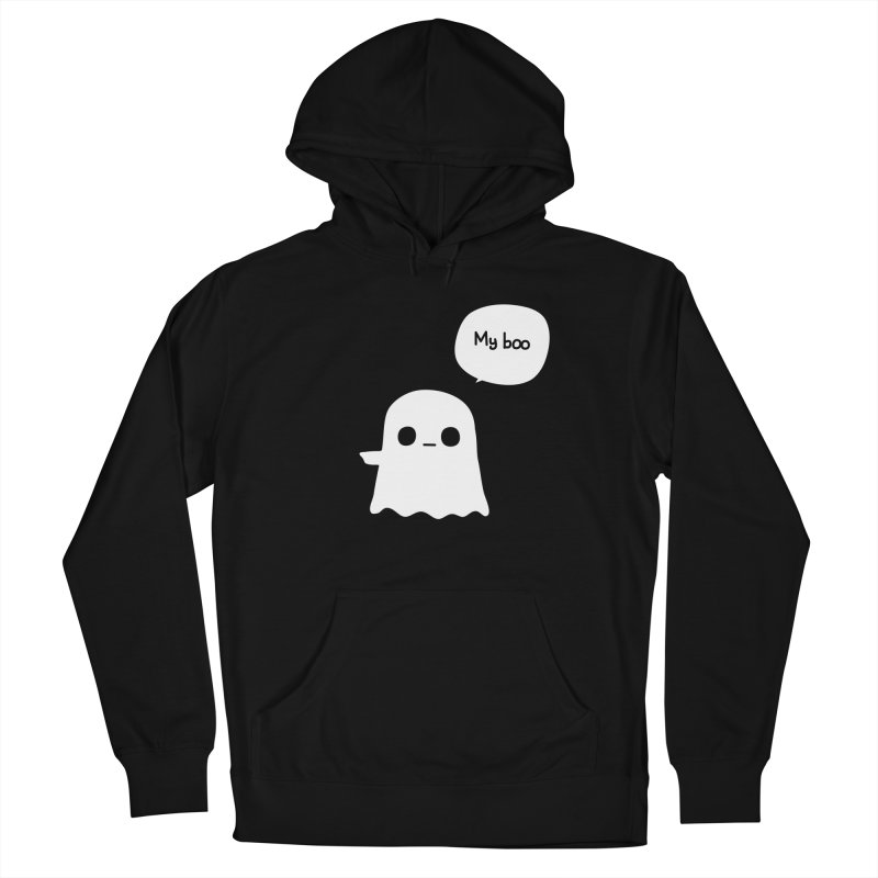 My Boo (Left) Men's French Terry Pullover Hoody by oneweirddude's Artist Shop
