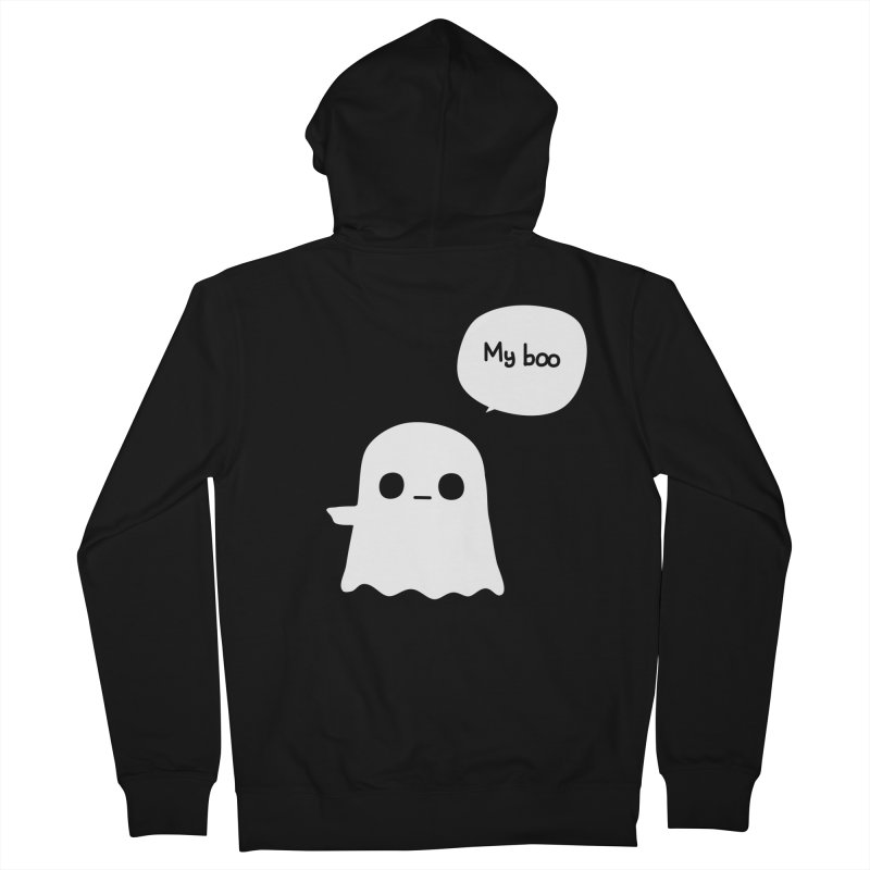My Boo (Left) Men's French Terry Zip-Up Hoody by oneweirddude's Artist Shop
