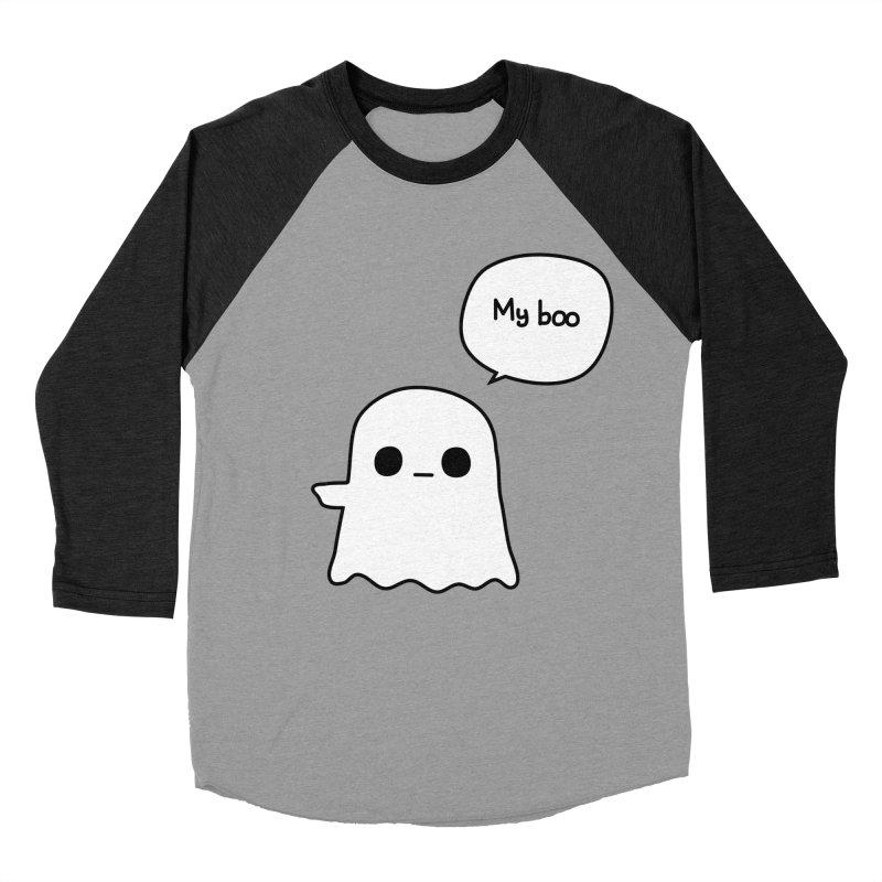 My Boo (Left) Men's Baseball Triblend Longsleeve T-Shirt by oneweirddude's Artist Shop