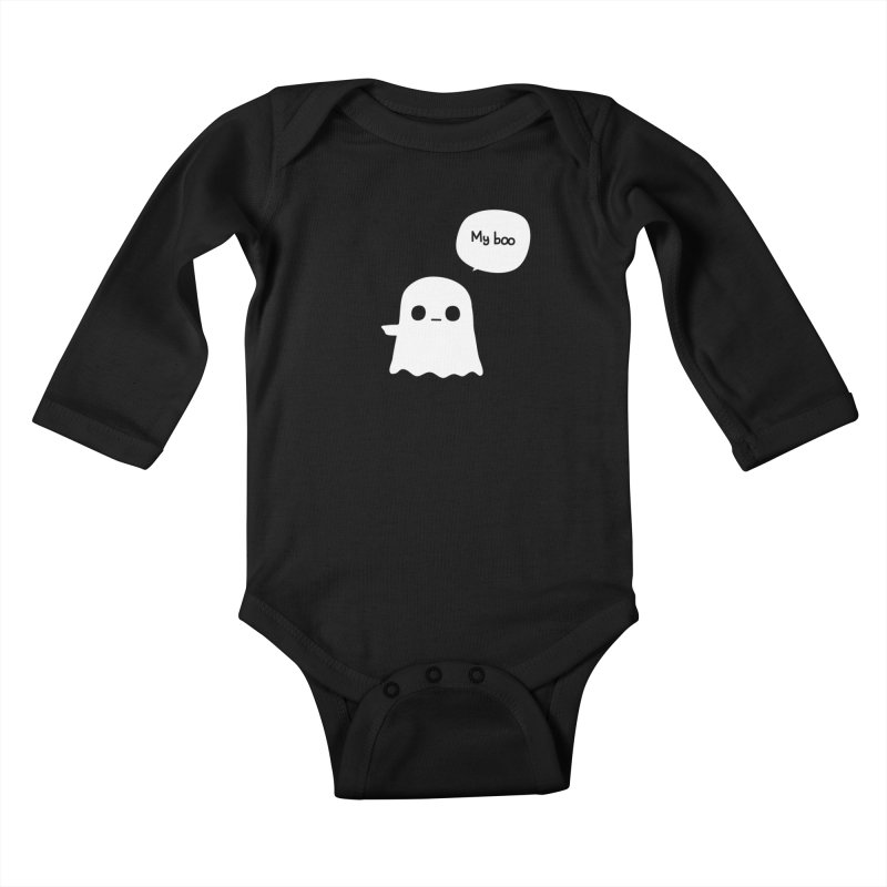My Boo (Left) Kids Baby Longsleeve Bodysuit by oneweirddude's Artist Shop