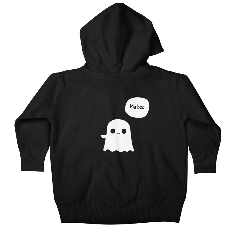 My Boo (Left) Kids Baby Zip-Up Hoody by oneweirddude's Artist Shop