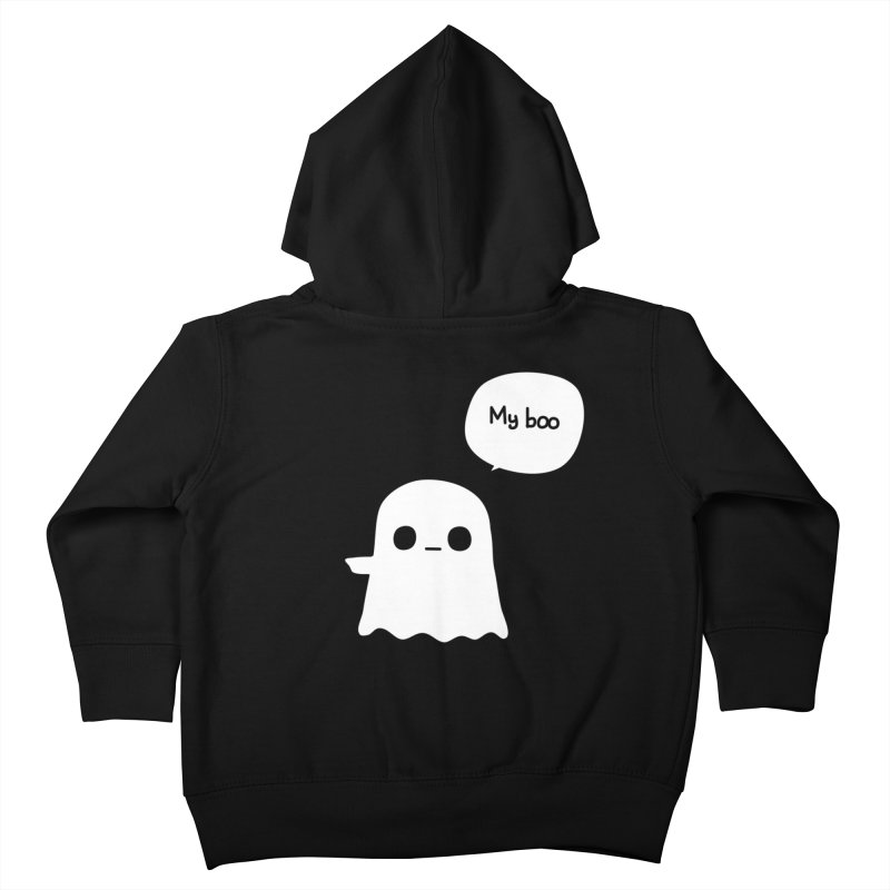 My Boo (Left) Kids Toddler Zip-Up Hoody by oneweirddude's Artist Shop