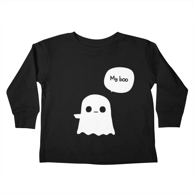 My Boo (Left) Kids Toddler Longsleeve T-Shirt by oneweirddude's Artist Shop