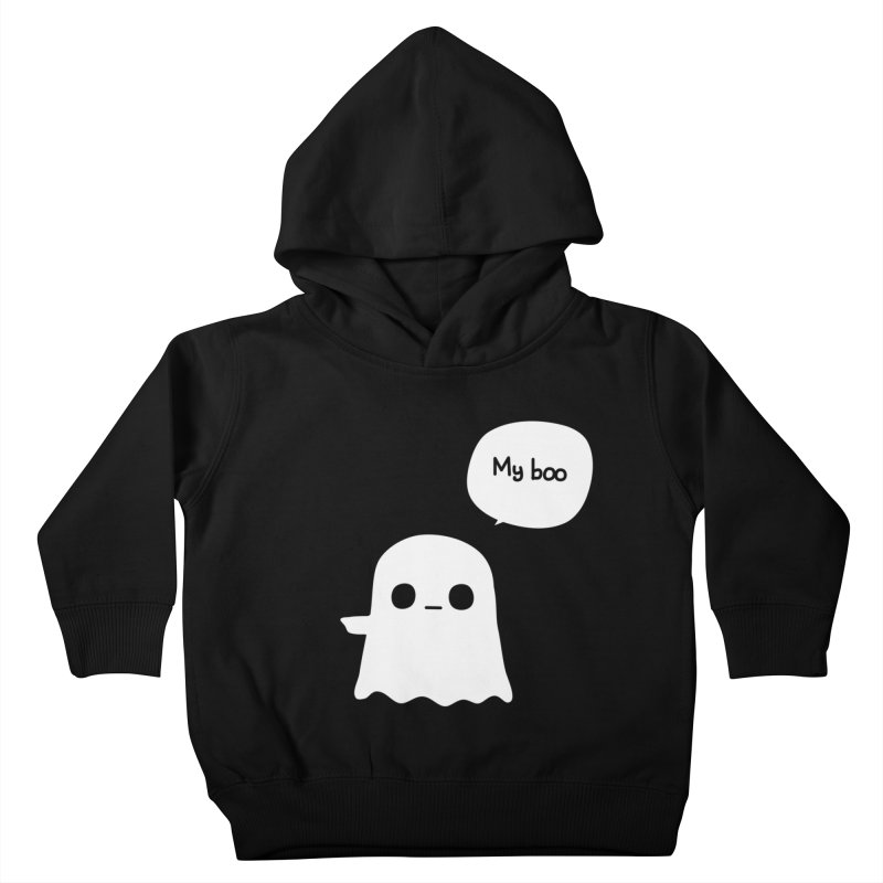 My Boo (Left) Kids Toddler Pullover Hoody by oneweirddude's Artist Shop