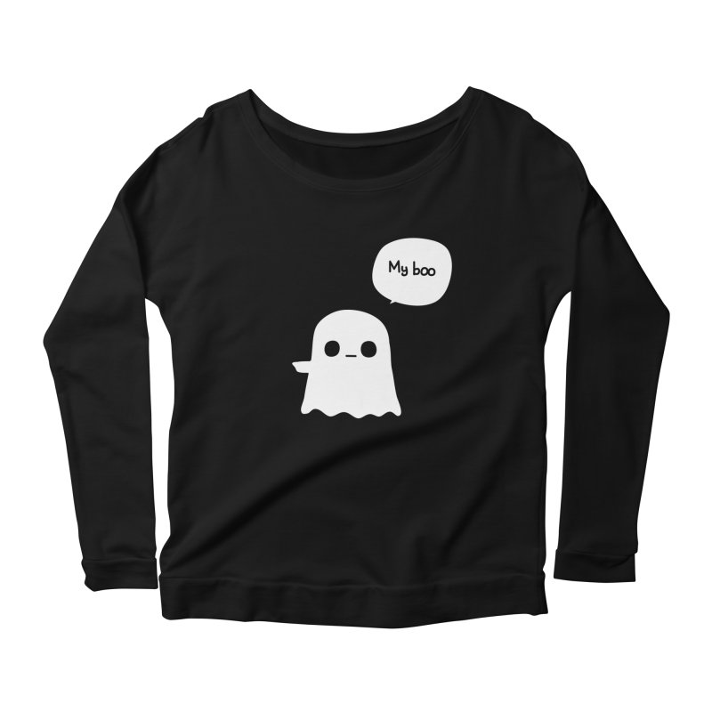 My Boo (Left) Women's Scoop Neck Longsleeve T-Shirt by oneweirddude's Artist Shop