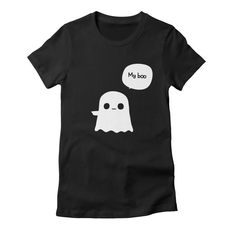 My Boo (Left) Women's Fitted T-Shirt by oneweirddude's Artist Shop