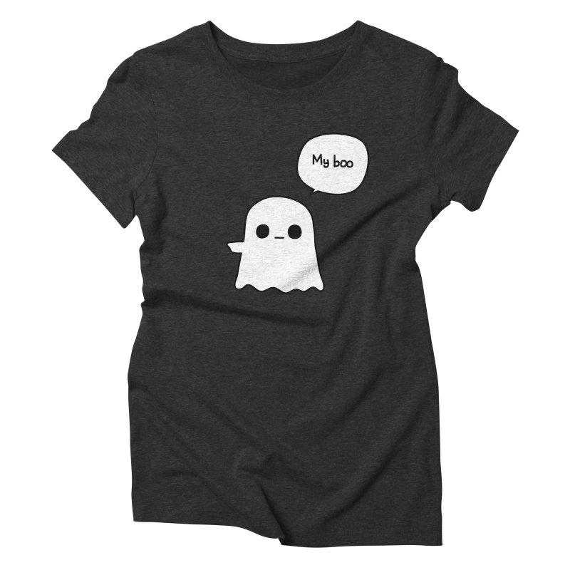 My Boo (Left) Women's Triblend T-Shirt by oneweirddude's Artist Shop