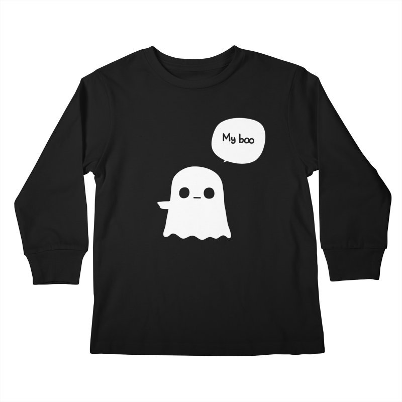My Boo (Left) Kids Longsleeve T-Shirt by oneweirddude's Artist Shop