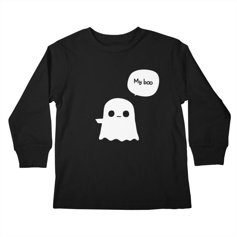 My Boo (Left) Kids Longsleeve T-Shirt by oneweirddude's Artist Shop