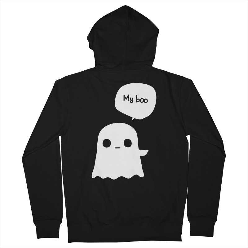 My Boo (Right) Men's Zip-Up Hoody by oneweirddude's Artist Shop