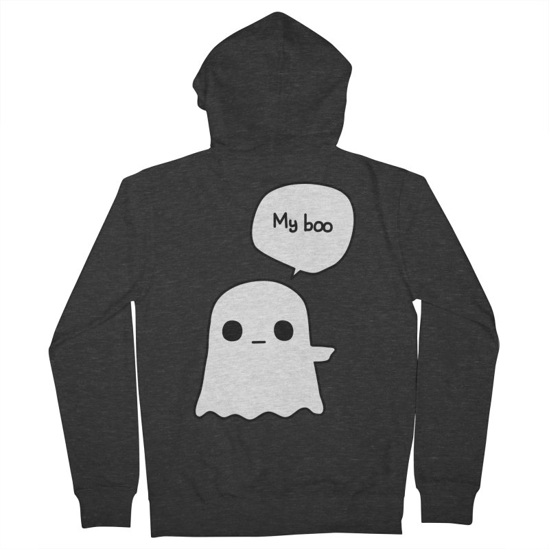 My Boo (Right) Men's French Terry Zip-Up Hoody by oneweirddude's Artist Shop