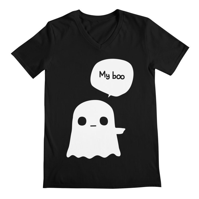 My Boo (Right) Men's Regular V-Neck by oneweirddude's Artist Shop