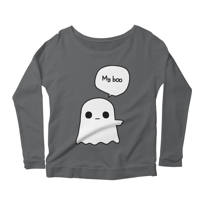 My Boo (Right) Women's Scoop Neck Longsleeve T-Shirt by oneweirddude's Artist Shop