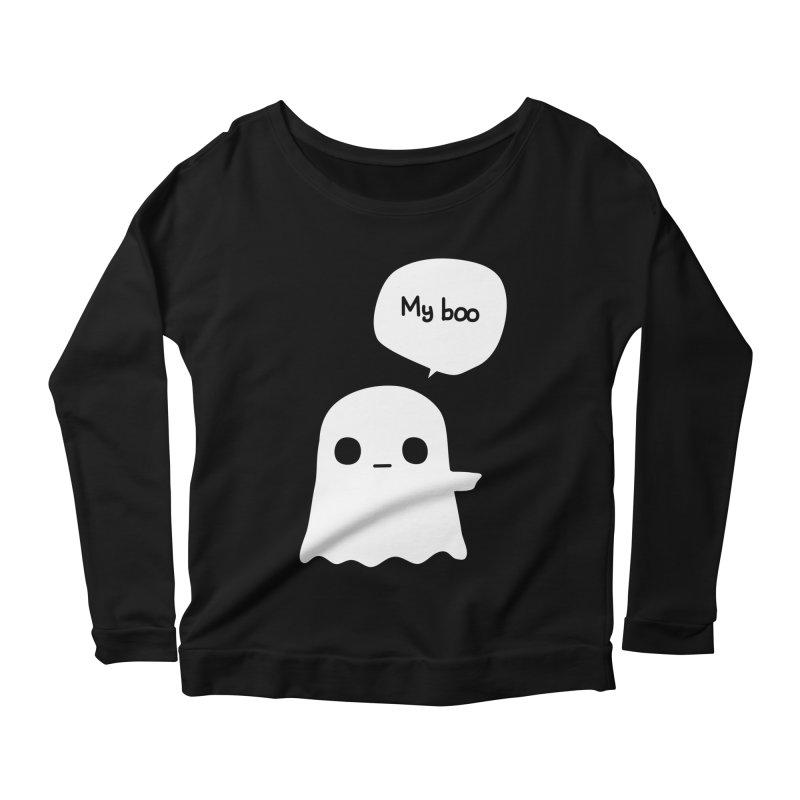 My Boo (Right) Women's Scoop Neck Longsleeve T-Shirt by oneweirddude's Artist Shop