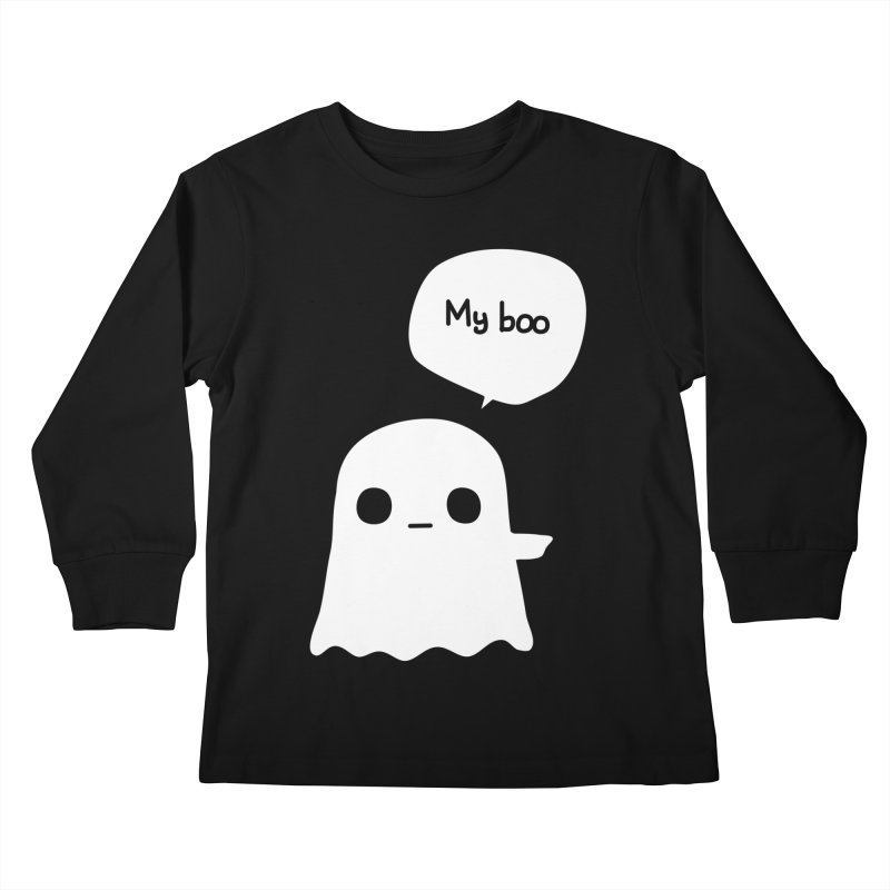 My Boo (Right) Kids Longsleeve T-Shirt by oneweirddude's Artist Shop