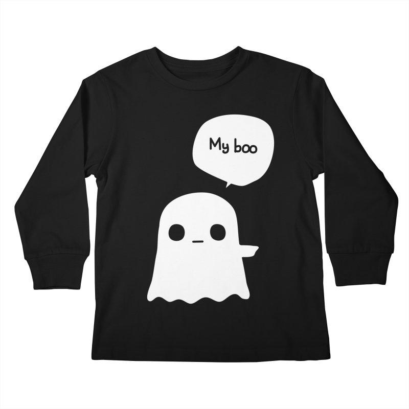 My Boo (Right) Kids Longsleeve T-Shirt by oneweirddude's Artist Shop
