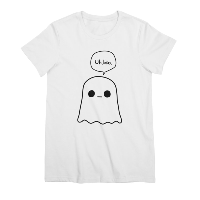 Awkward Ghost Women's Premium T-Shirt by oneweirddude's Artist Shop