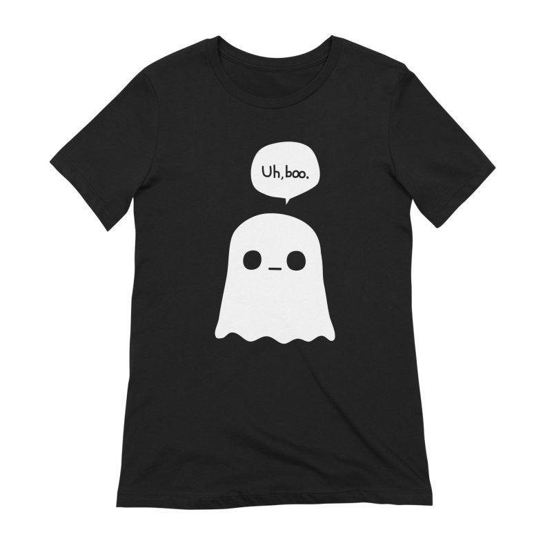 Awkward Ghost Women's Extra Soft T-Shirt by oneweirddude's Artist Shop