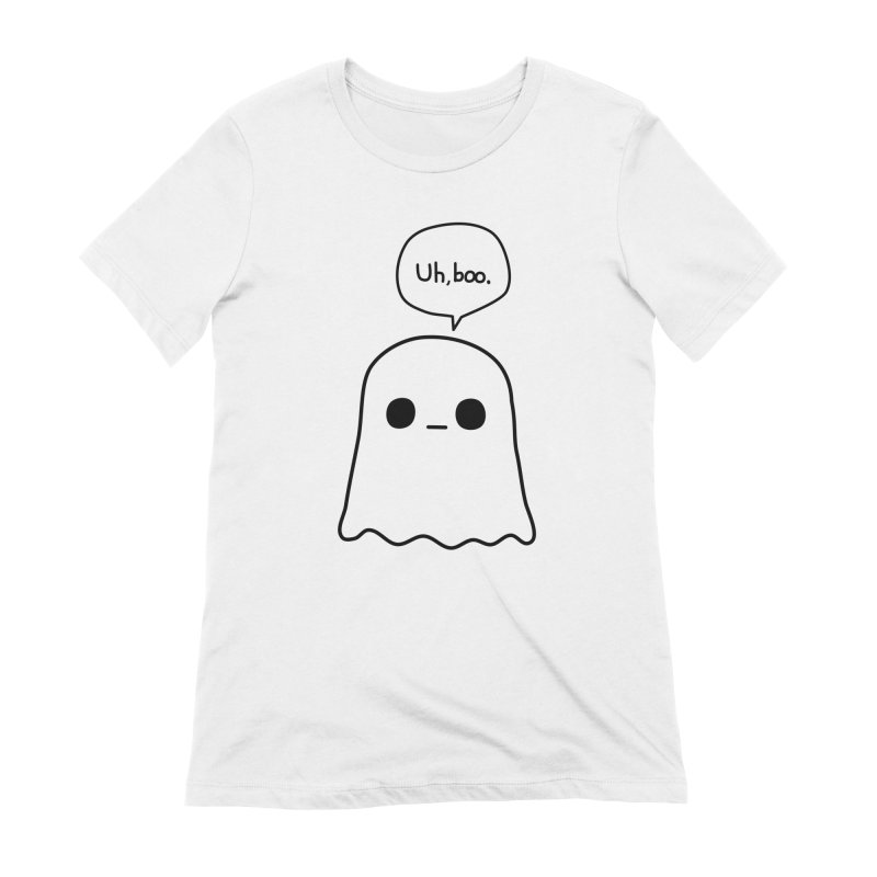 Awkward Ghost Women's Extra Soft T-Shirt by oneweirddude's Artist Shop