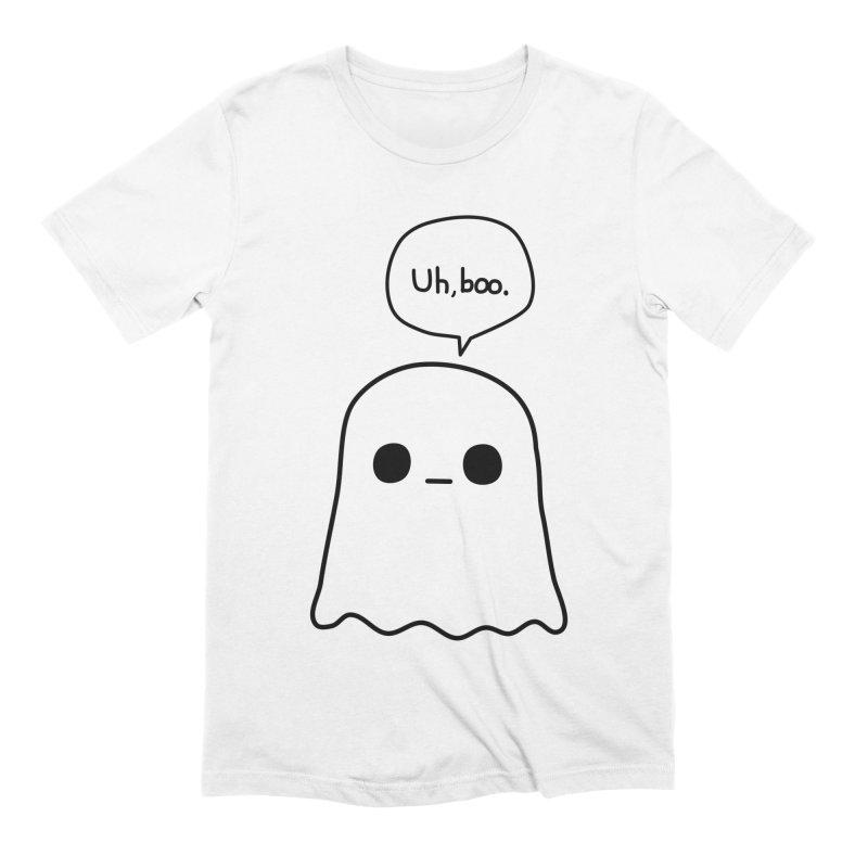 Awkward Ghost Men's Extra Soft T-Shirt by oneweirddude's Artist Shop