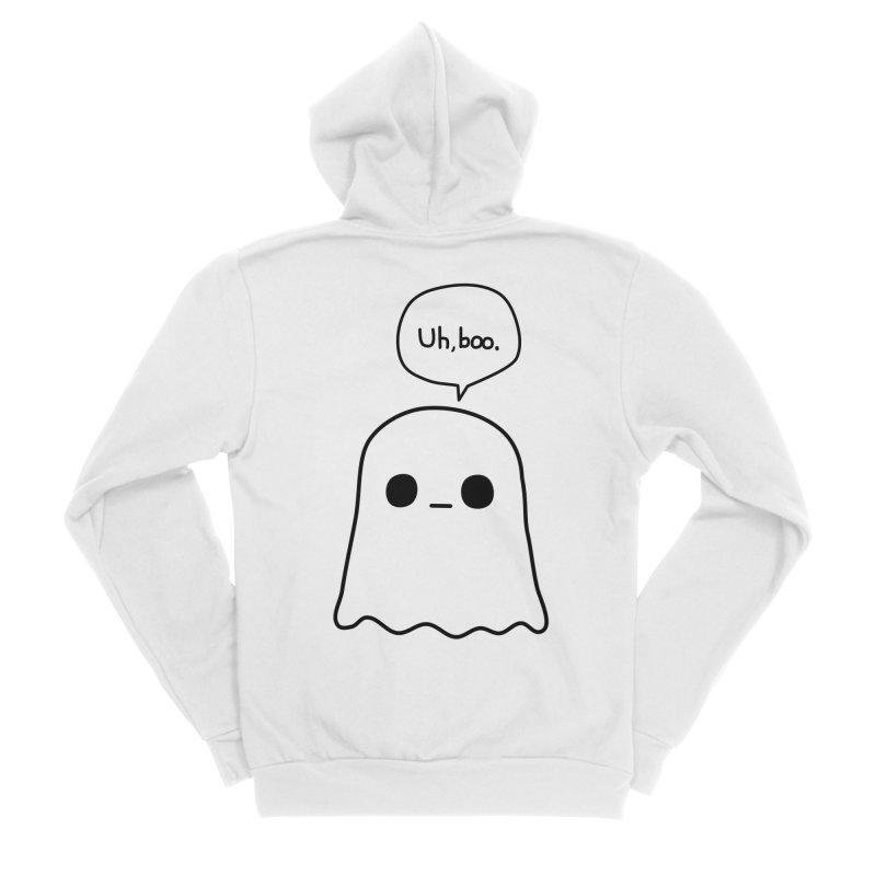Awkward Ghost Women's Sponge Fleece Zip-Up Hoody by oneweirddude's Artist Shop